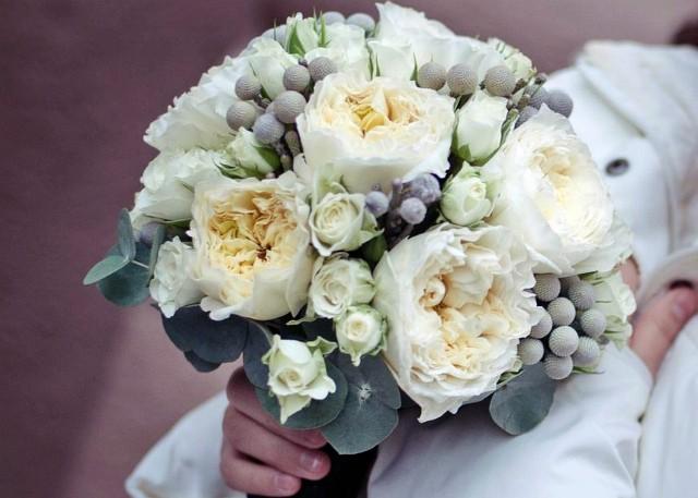 Холодный свадебный букет