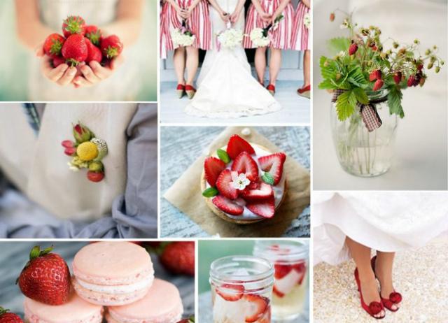 Клубничная свадьба - атрибуты