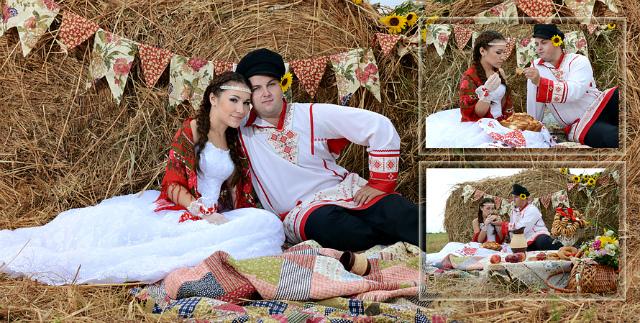 Костюмы в стиле ситцевой свадьбы