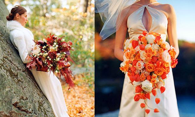 Осенний букет невесты 2015