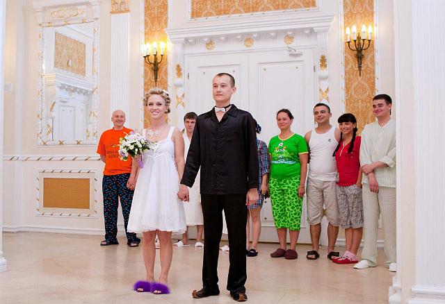 Пижамная фланелевая свадьба