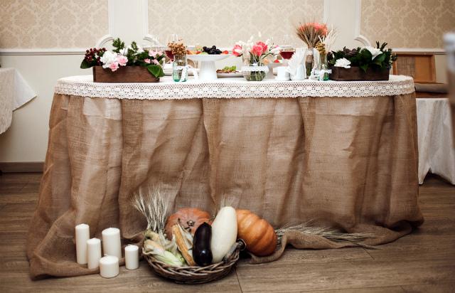 Свадьба в рустиальном стиле