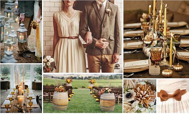 Свадьба в янтарных тонах