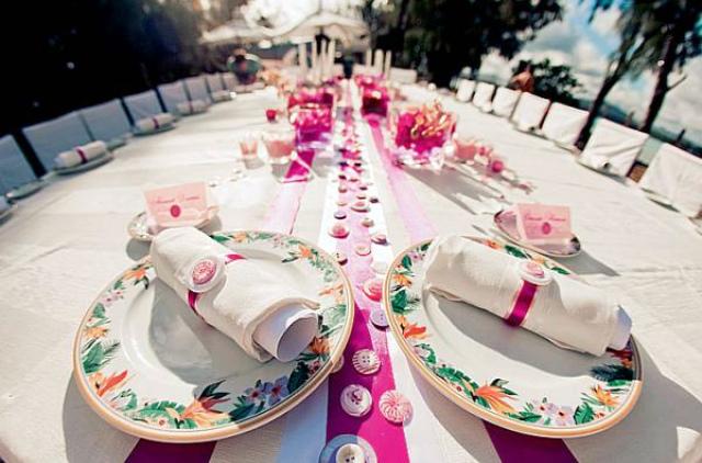Стол на ситцевую свадьбу