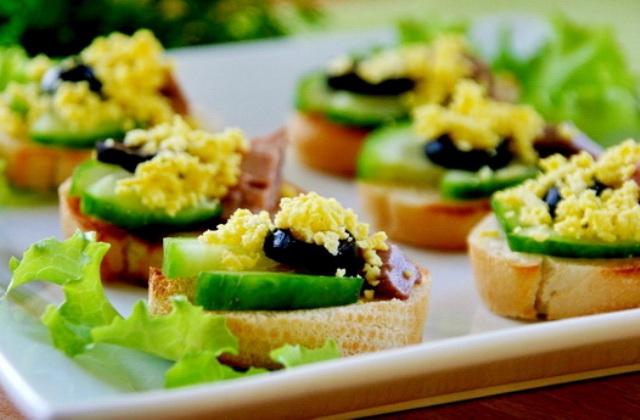 Бутерброды на праздничный стол фото