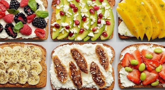 Бутерброды с фруктами на праздничный стол