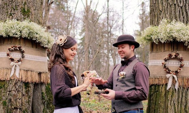 Лесная деревянная свадьба