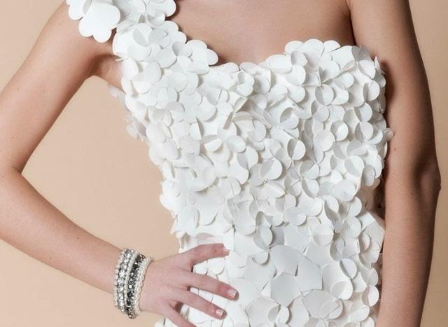Платье для бумажной свадьбы