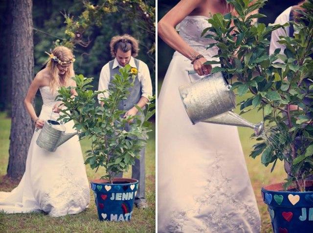 Посадка дерева на деревянной свадьбе