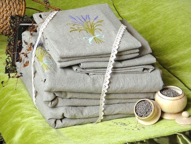 Постельное белье на льняную свадьбу