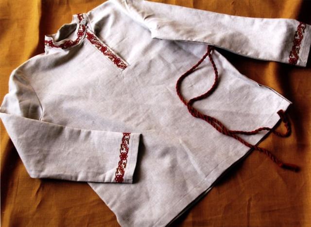 Рубаха на льняную свадьбу