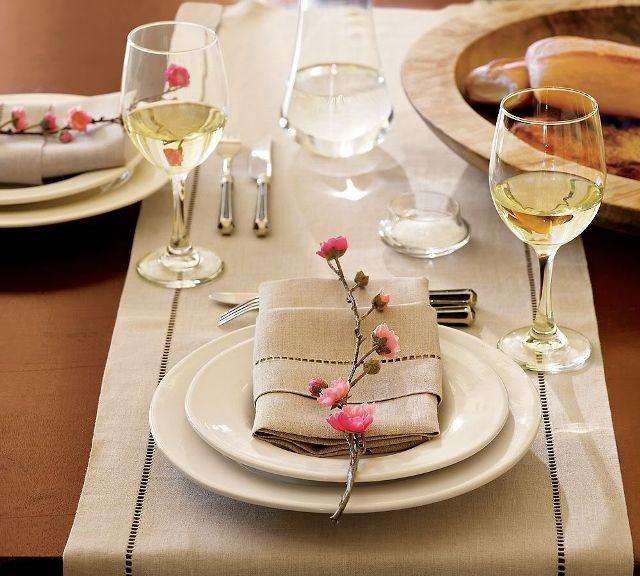 Сервировка стола на льняной свадьбе