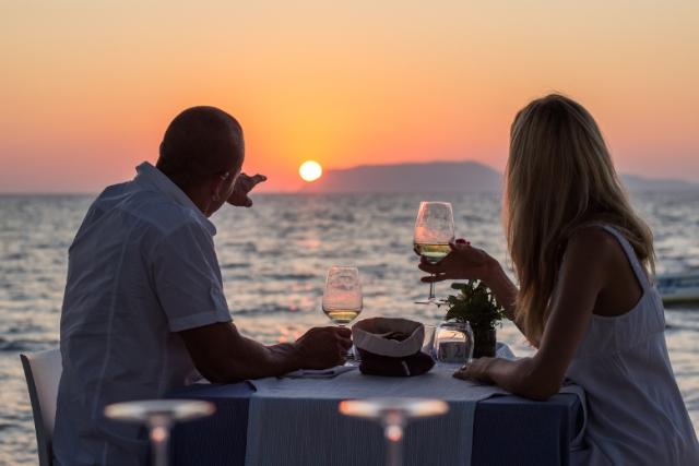Романтический ужин на воде
