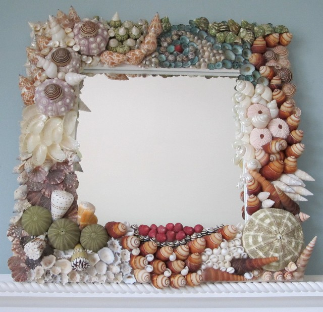 Зеркальце, украшенное своими руками