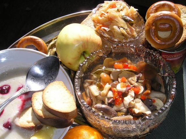 Блюда на пост с маслом