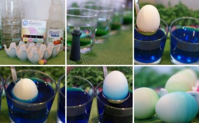 Как окрасить яйца в полосочку