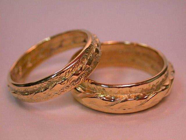 Медные обручальные кольца