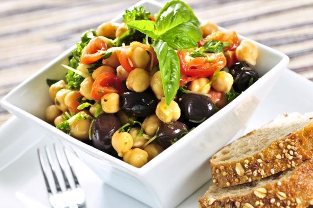Овощные салаты на постном столе