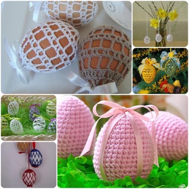 Яйца в кружеве своими руками