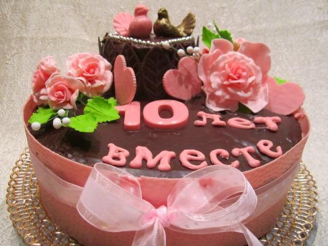 Торт на Розовую свадьбу