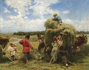 Сбор сена на Руси