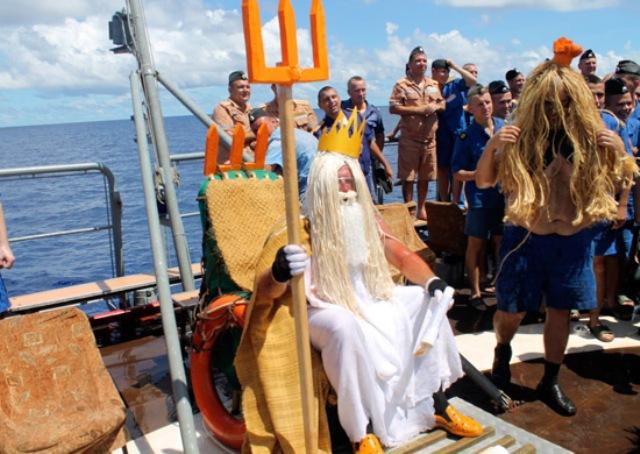 Древний ритуал перехода экватора