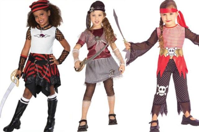 Костюмы для девочек на пиратскую вечеринку