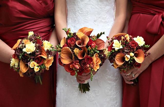 Свадебный букет в ноябре