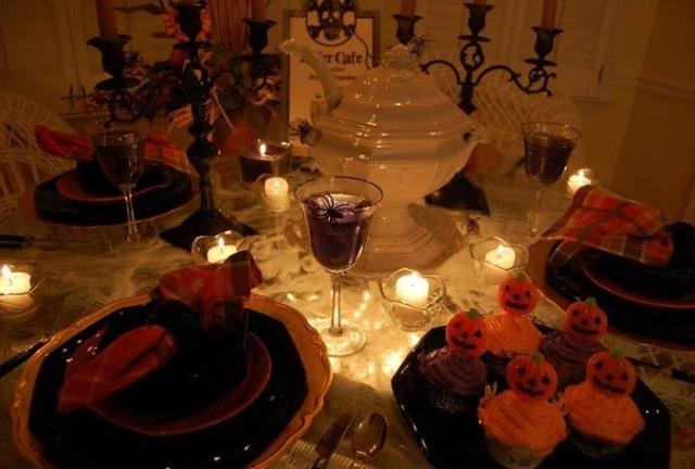Тематический стол на Хэллоуин