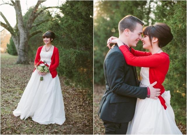 Образ невесты на ноябрьской свадьбе