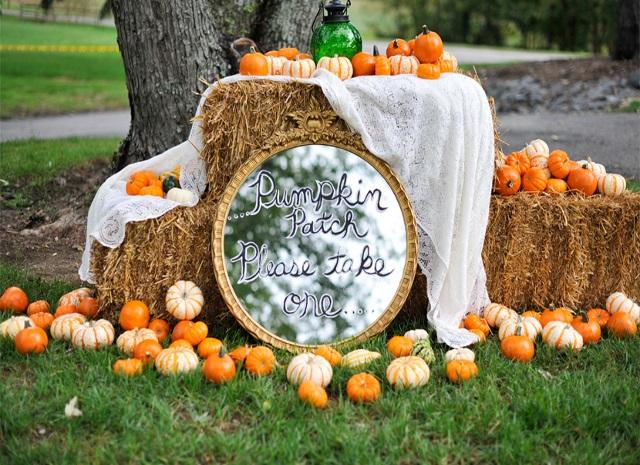 Тыква в декоре ноябрьской свадьбы