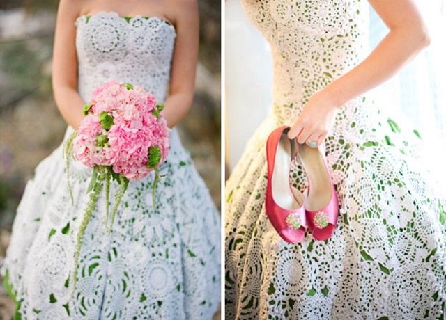 Что можно одеть на свадебное платье сверху
