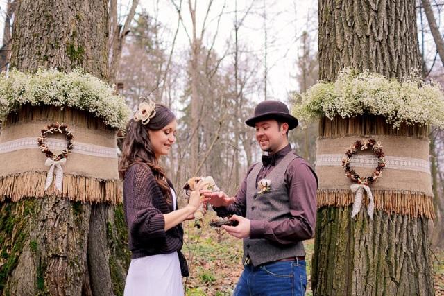 Эко детали на свадьбе в ноябре
