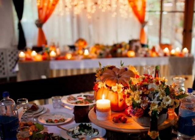 Банкет и угощения в ноябре на свадьбе
