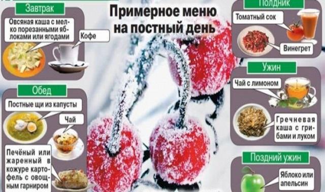 Рождественское меню