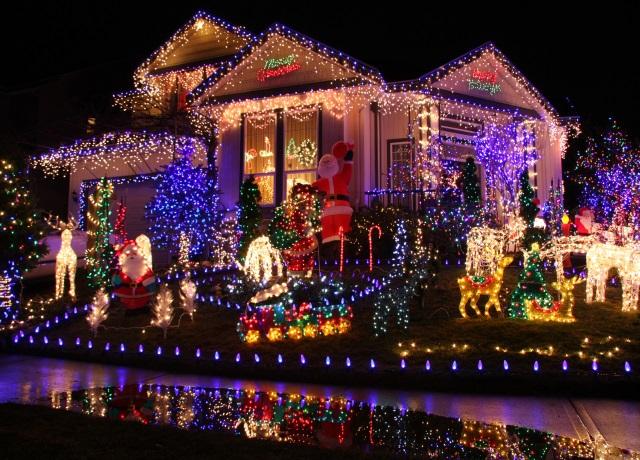 Christmas light display