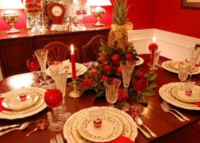 сервировки новогоднего стола