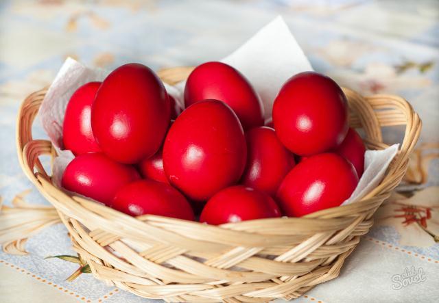 Пасха крашеные яйца