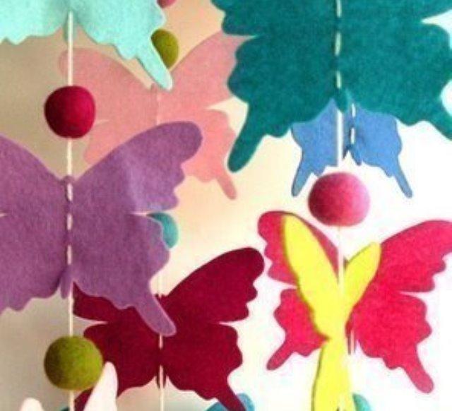 Бабочки их фетра