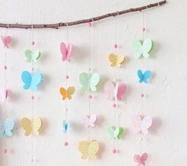 Гирлянды с бабочками