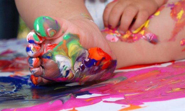 Пальчиковые краски для ребенка