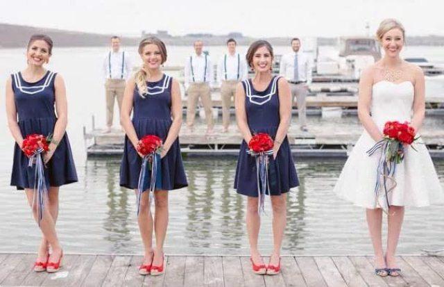 Идеи для свадьбы в морском стиле: оформление и сценарий
