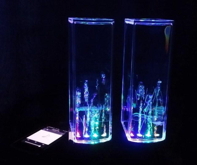 Колонки с фонтаном
