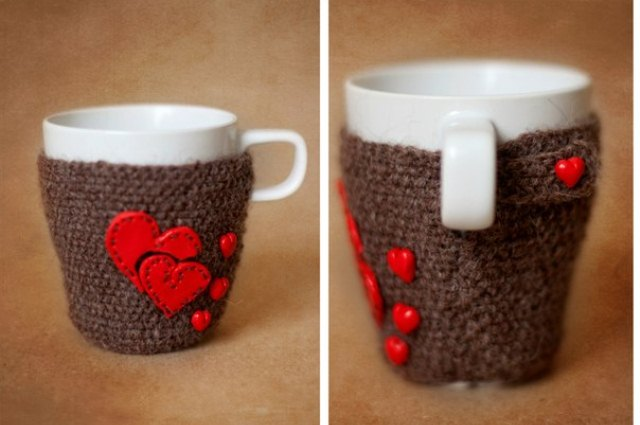 Вязанный чехол для чашки