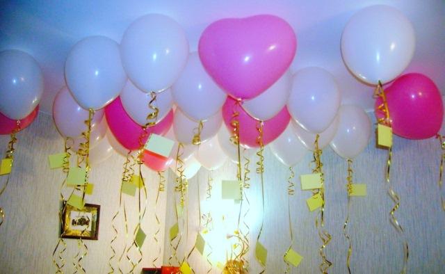 Воздушные шары с поздравлениями