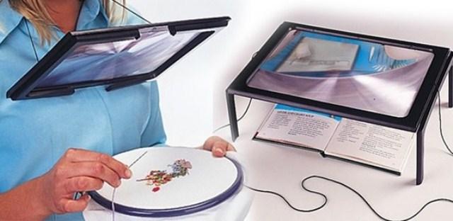 Увеличительное стекло для рукодельниц