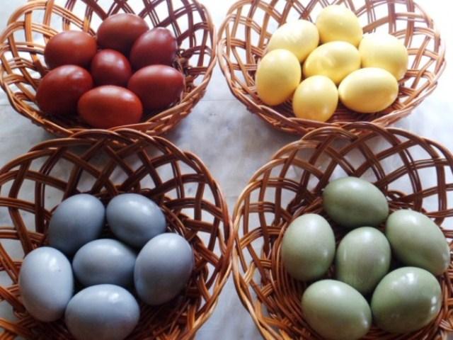 Окрашивания яиц