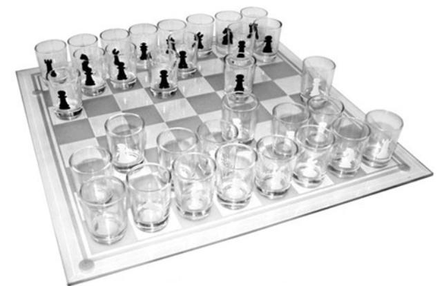 Хрустальные шашки-рюмки