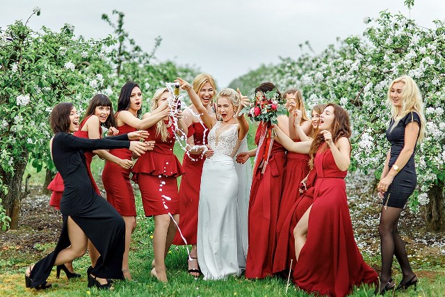 Гости на тематической свадьбе