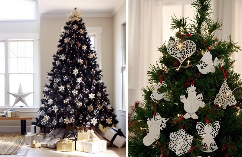 Украшаем окна и елку к Новому году снежинками из бумаги